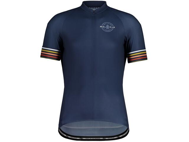 Maloja KratzdistelM. 1/2 Short Sleeve Bike Jersey Men, azul